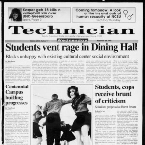 Technician, Vol. 73 No. 17, September 23, 1992