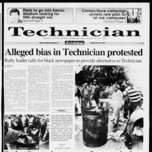 Technician, Vol. 73 No. 19, September 25, 1992