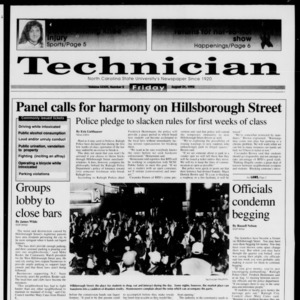 Technician, Vol. 73 No. 2, August 21, 1992
