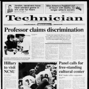 Technician, Vol. 73 No. 20, September 28, 1992