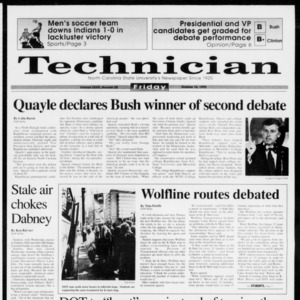 Technician, Vol. 73 No. 28, October 16, 1992