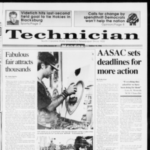 Technician, Vol. 73 No. 29, October 19, 1992