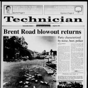 Technician, Vol. 73 No. 3, August 24, 1992