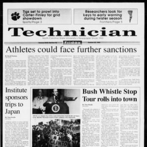 Technician, Vol. 73 No. 32, October 23, 1992