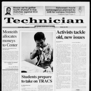 Technician, Vol. 73 No. 34, October 28, 1992