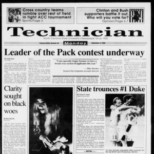 Technician, Vol. 73 No. 36, November 2, 1992