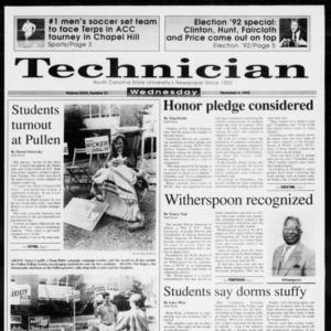 Technician, Vol. 73 No. 37, November 4, 1992