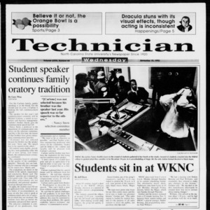 Technician, Vol. 73 No. 44, November 18, 1992