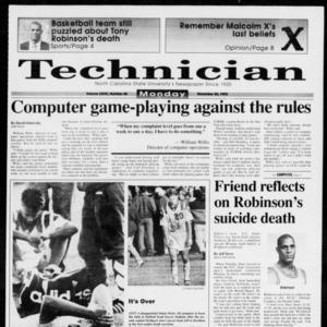 Technician, Vol. 73 No. 48, November 30, 1992