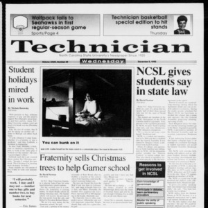 Technician, Vol. 73 No. 49, December 2, 1992