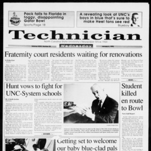 Technician, Vol. 73 No. 52, January 6, 1993