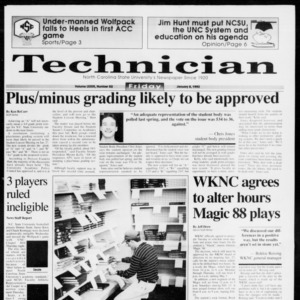 Technician, Vol. 73 No. 53, January 8, 1993
