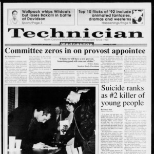 Technician, Vol. 73 No. 55, January 13, 1993