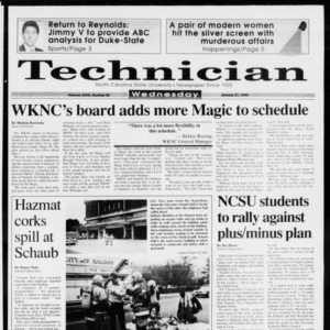 Technician, Vol. 73 No. 59, January 27, 1993