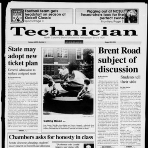 Technician, Vol. 73 No. 6, August 28, 1992