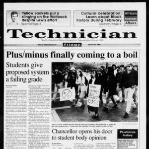 Technician, Vol. 73 No. 60, January 29, 1993