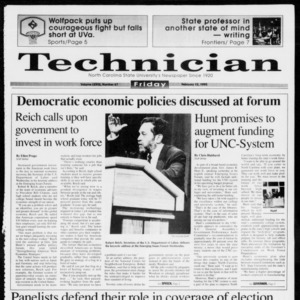 Technician, Vol. 73 No. 67, February 12, 1993