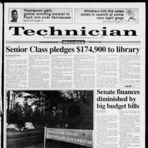 Technician, Vol. 73 No. 68, February 15, 1993