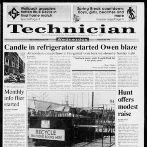 Technician, Vol. 73 No. 72, February 24, 1993