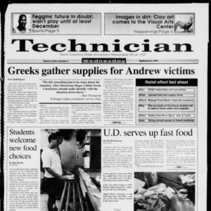 Technician, Vol. 73 No. 8, September 2, 1992
