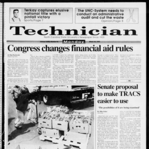 Technician, Vol. 73 No. 81, March 22, 1993