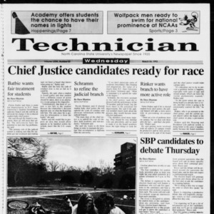 Technician, Vol. 73 No. 82, March 24, 1993