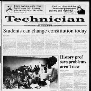 Technician, Vol. 73 No. 84, March 29, 1993