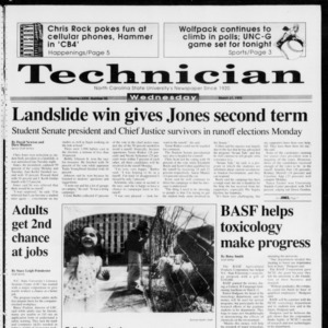 Technician, Vol. 73 No. 85, March 31, 1993