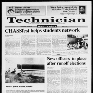 Technician, Vol. 73 No. 89, April 7, 1993