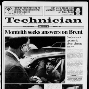 Technician, Vol. 73 No. 9, September 4, 1992