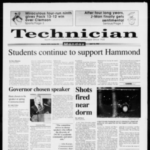 Technician, Vol. 73 No. 90, April 12, 1993