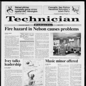 Technician, Vol. 73 No. 92, April 14, 1993