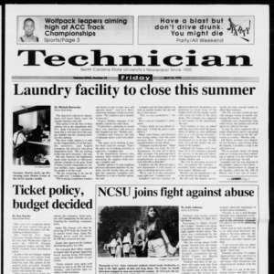 Technician, Vol. 73 No. 92, April 16, 1993