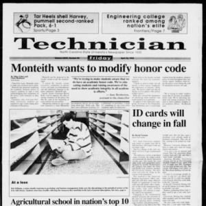 Technician, Vol. 73 No. 95, April 23, 1993