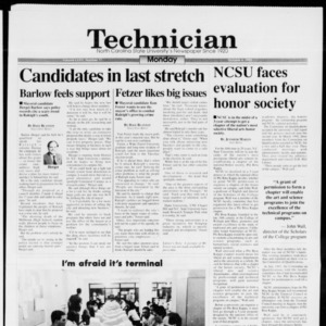 Technician, Vol. 74 No. 17, October 4, 1993