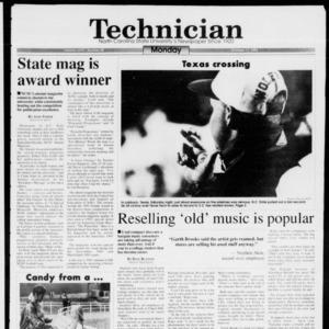 Technician, Vol. 74 No. 20, October 11, 1993