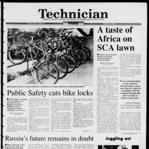 Technician, Vol. 74 No. 22, October 15, 1993