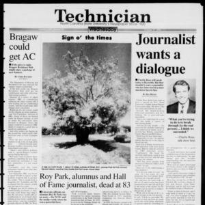 Technician, Vol. 74 No. 26, October 27, 1993