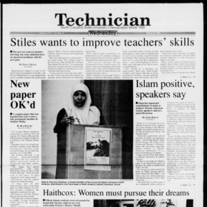 Technician, Vol. 74 No. 67, March 9, 1994