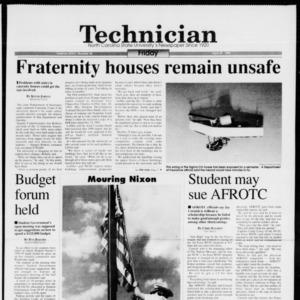 Technician, Vol. 74 No. 85, April 29, 1994