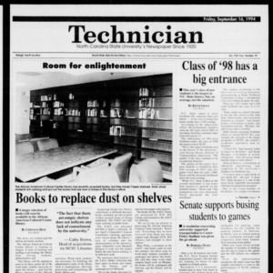 Technician, Vol. 75 No. 10, September 16, 1994