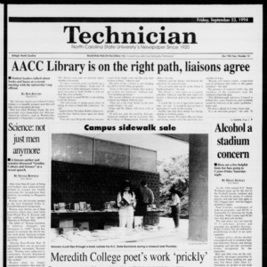 Technician, Vol. 75 No. 13, September 23, 1994