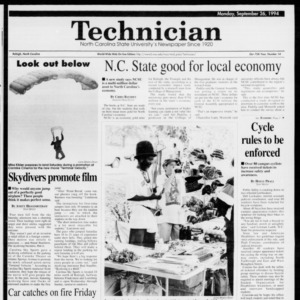 Technician, Vol. 75 No. 14, September 26, 1994