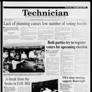 Technician, Vol. 75 No. 15, September 28, 1994