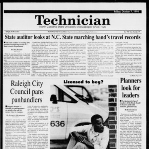 Technician, Vol. 75 No. 19, October 7, 1994