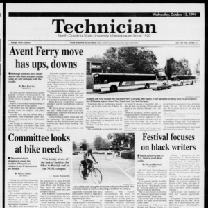 Technician, Vol. 75 No. 21, October 12, 1994