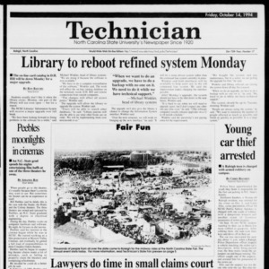 Technician, Vol. 75 No. 22, October 14, 1994
