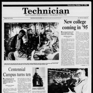 Technician, Vol. 75 No. 23, October 19, 1994