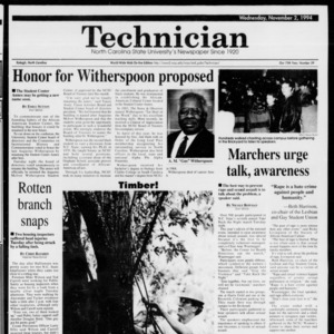 Technician, Vol. 75 No. 29, November 2, 1994