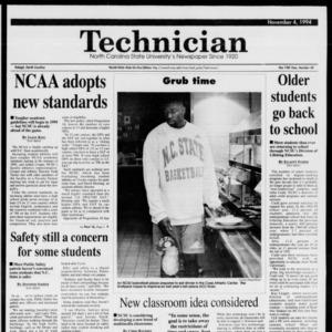 Technician, Vol. 75 No. 30, November 4, 1994